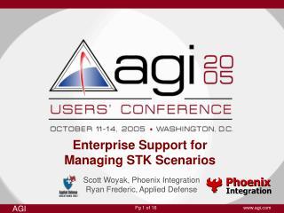 Enterprise Support for  Managing STK Scenarios