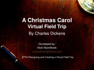 A Christmas Carol Virtual Field Trip