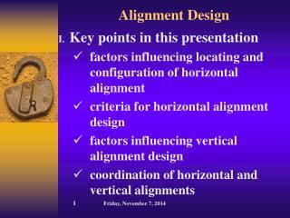Alignment Design