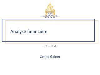 Analyse financi�re