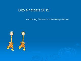 Cito eindtoets 2012