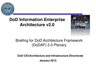DoD Information Enterprise Architecture v2.0