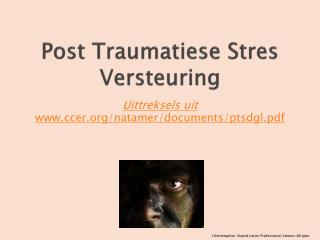 Post Traumatiese Stres Versteuring