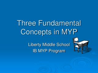 Three Fundamental Concepts in MYP