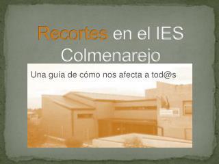 Recortes  en el IES Colmenarejo