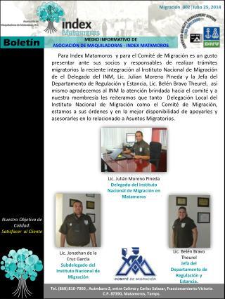 MEDIO INFORMATIVO DE  ASOCIACIÓN DE MAQUILADORAS - INDEX MATAMOROS