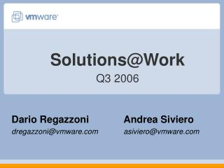 Solutions@Work Q3 2006