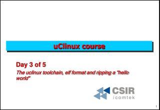 uClinux course