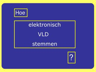 elektronisch              VLD           stemmen