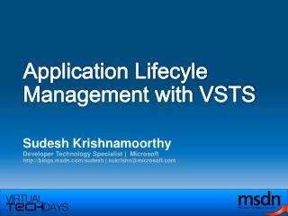 Application Lifecyle Management with VSTS