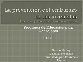 La prevención del embarazo en las jovencitas Educación juvenil para prevenir el embarazo
