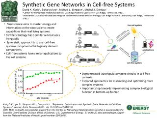 Synthetic  G ene  N etworks  in  Cell-free Systems