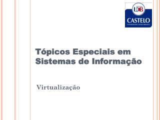 T�picos Especiais em Sistemas de Informa��o