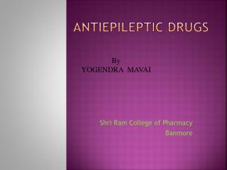 Antiepileptic Drugs