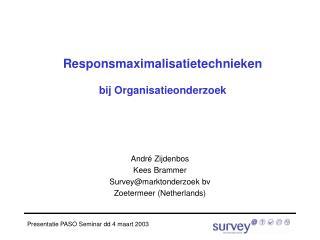 Responsmaximalisatietechnieken bij Organisatieonderzoek