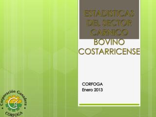ESTADISTICAS DEL SECTOR CARNICO BOVINO COSTARRICENSE