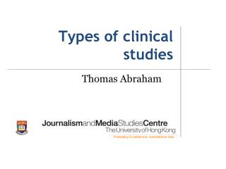 Types of clinical studies