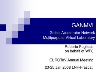 GANMVL   Global Accelerator Network Multipurpose Virtual Laboratory