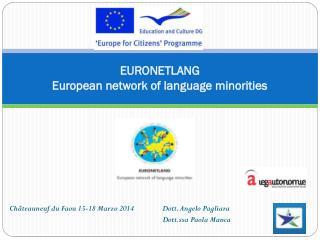 EURONETLANG European network of language minorities
