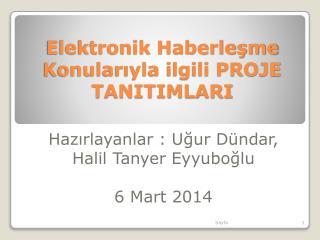 Elektronik Haberleşme Konularıyla ilgili PROJE TANITIMLARI