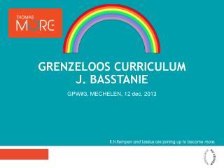 Grenzeloos  curriculum J. Basstanie