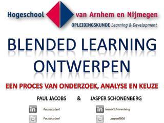 Blended learning ontwerpen