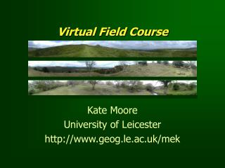Virtual Field Course