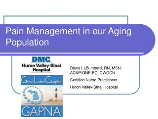 Pain Management in our Aging Population