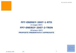 FP7 Energy – 2007 – Enel coordinatore