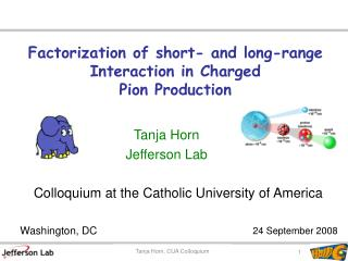Factorization of short- and long-range Interaction in Charged Pion Production