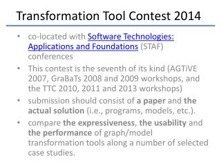 Transformation Tool Contest 2014