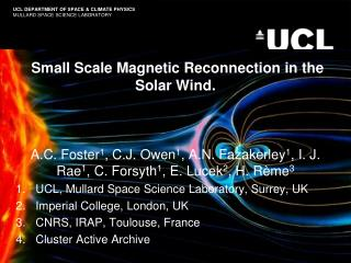 Small Scale Magnetic Reconnection in the Solar Wind.