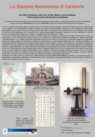 La Stazione Astronomica di Carloforte