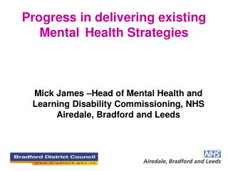 Progress in delivering existing Mental  Health Strategies