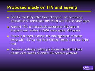 Proposed study on HIV and ageing