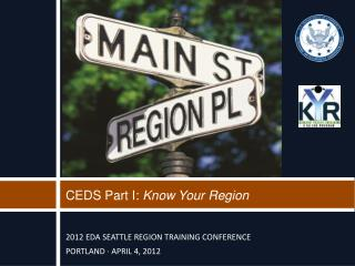 CEDS Part I:  Know Your Region