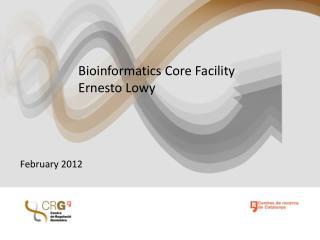 Bioinformatics Core Facility Ernesto Lowy