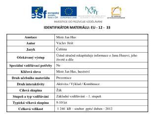 Identifikátor materiálu:  EU -  12  -   33
