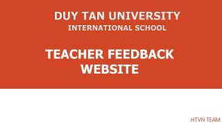 TEACHER FEEDBACK WEBSITE
