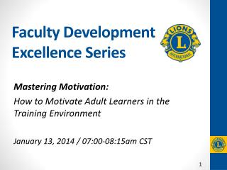 Faculty Development Excellence Series