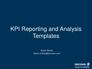 KPI Reporting and Analysis Templates