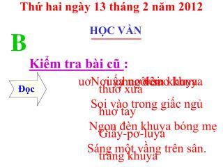 Th? hai ng�y 13 th�ng 2 n?m 2012