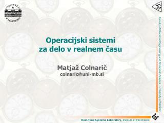 Operacijski  sistem i  za delo  v realnem času