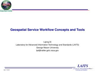 Geospatial Service Workflow Concepts and Tools