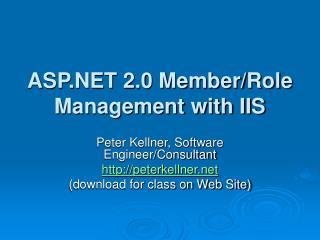 ASP 2.0 Member