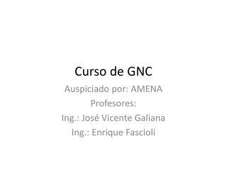 Curso de GNC