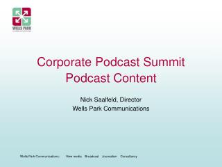 Corporate Podcast Summit