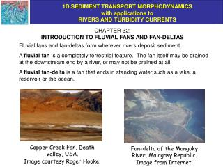 CHAPTER 32: INTRODUCTION TO FLUVIAL FANS AND FAN-DELTAS