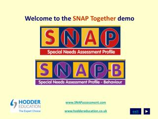 Welcome to the SNAP Together demo