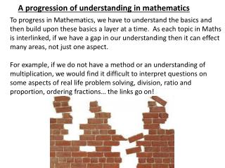 A progression of understanding in mathematics